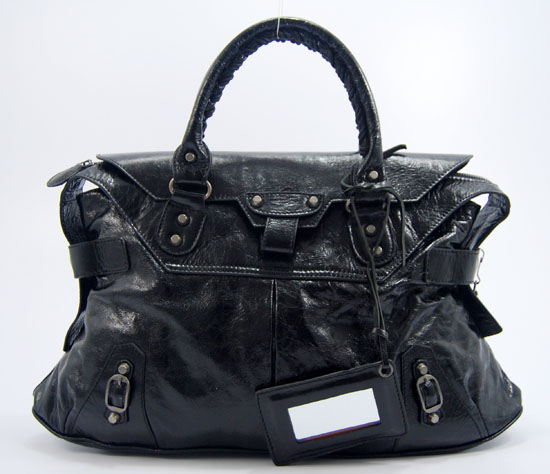 Balenciaga 084668 Black Short Neoclassic Bag