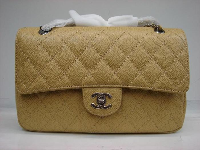 Chanel 1112 Classic 2.55 Replica Handbag Apricot Genuine Cowhide Leather With Silver Hardware