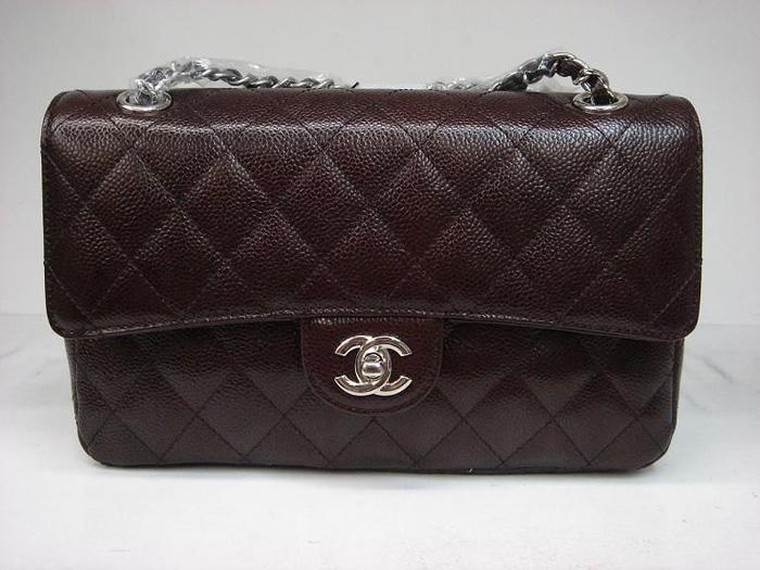 Chanel 1112 Classic 2.55 Replica Handbag Coffee Genuine Cowhide Leather With Silver Hardware