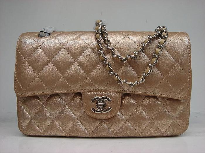 Chanel 1112 Classic 2.55 Replica Handbag Gold Genuine Leather With Gold Hardware