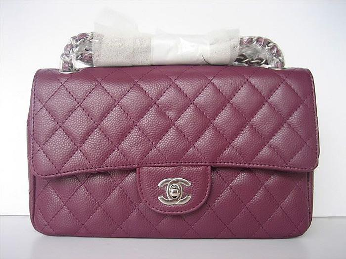 Chanel 1112 Classic 2.55 replica handbag light purple genuine cowhide leather with Silver Hardware