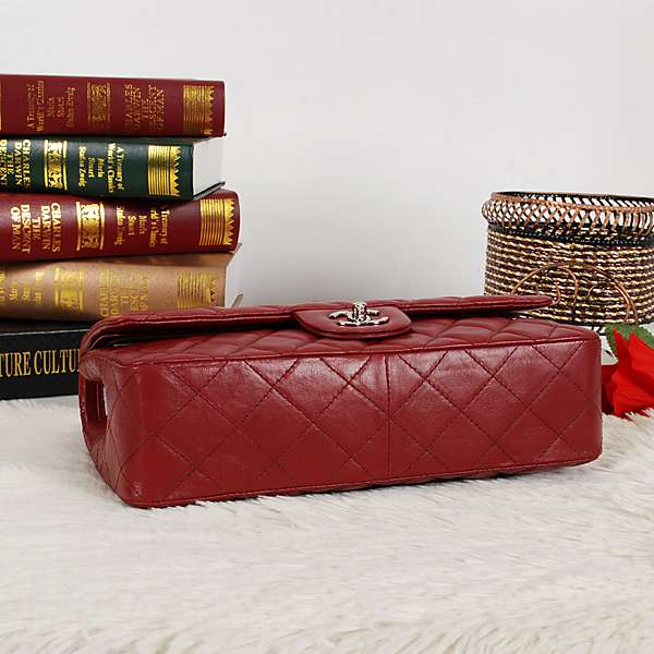 Chanel 1112 Classic 2.55 claret Lambskin Leather With Silver Hardware