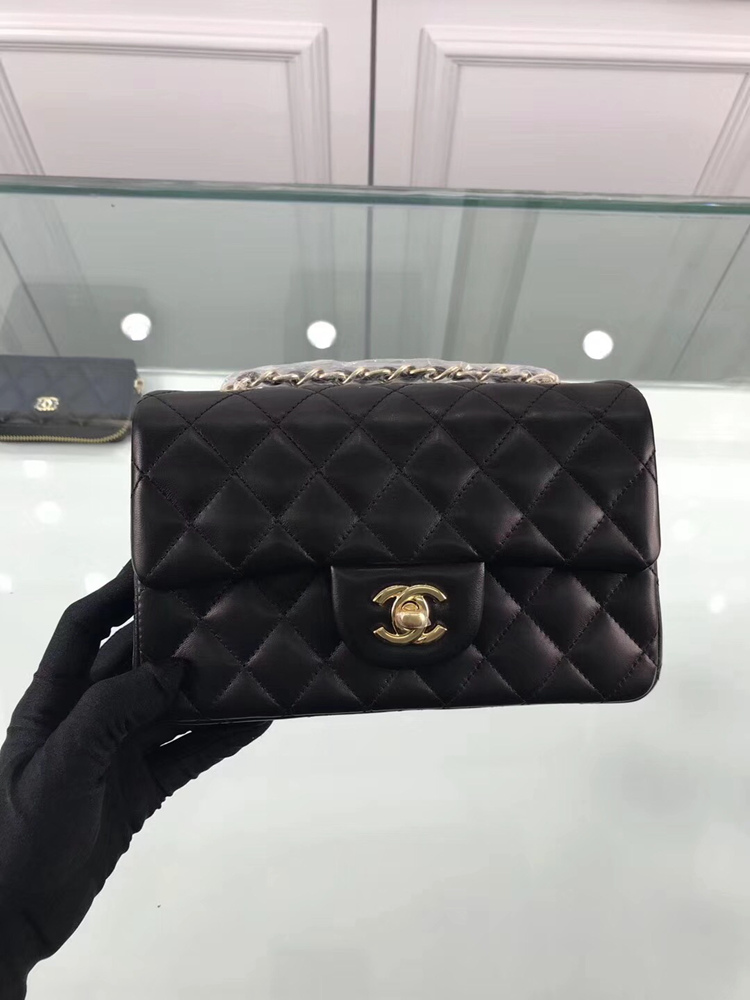 Chanel 1116 Mini Rectangular Calfskin Classic Flap Bag