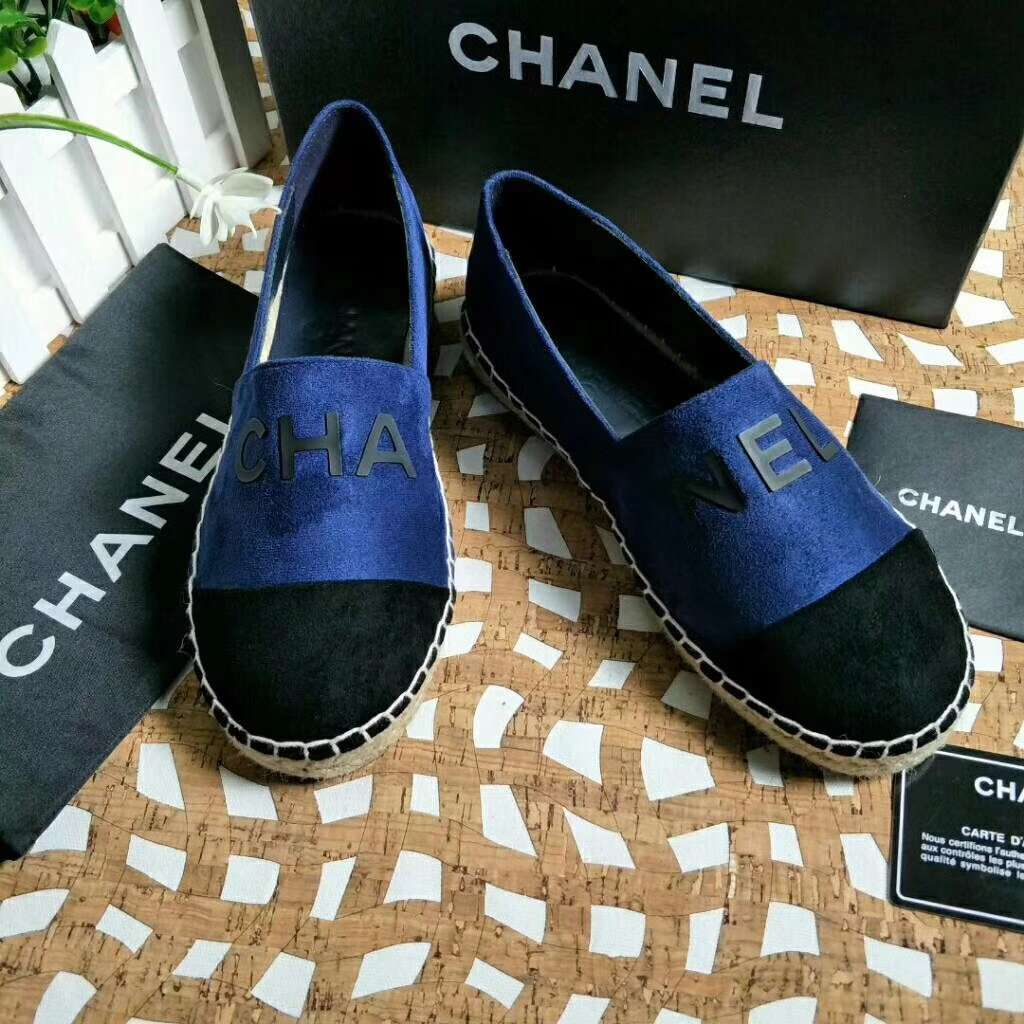 2019 NEW Chanel Real leather shoes CHANEL 101205 BLUE