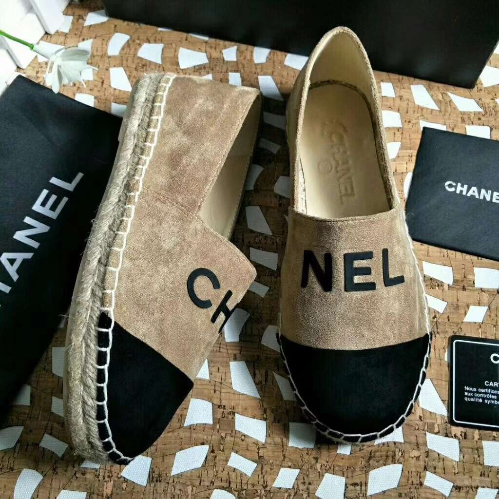 2019 NEW Chanel Real leather shoes CHANEL 101205 apricot