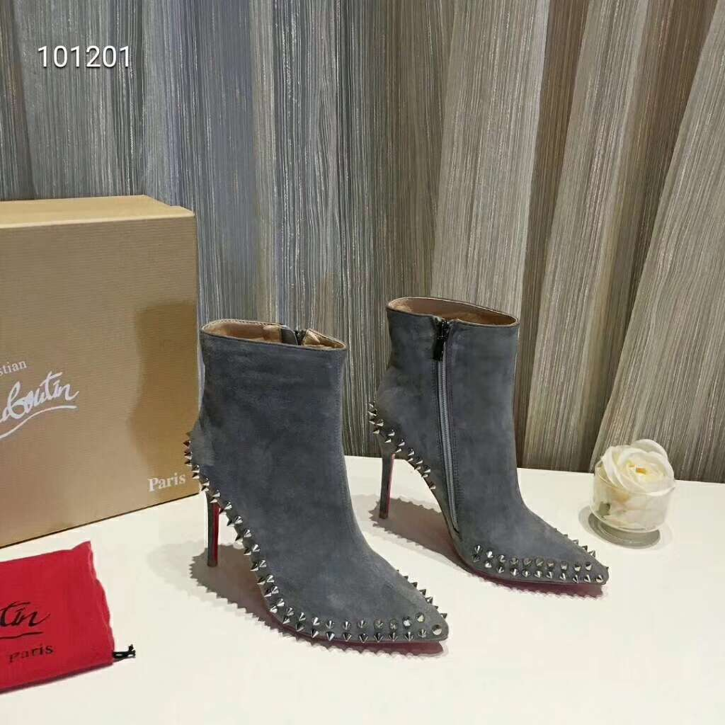 2019 NEW Christian Louboutin Real leather shoes CL101201grey