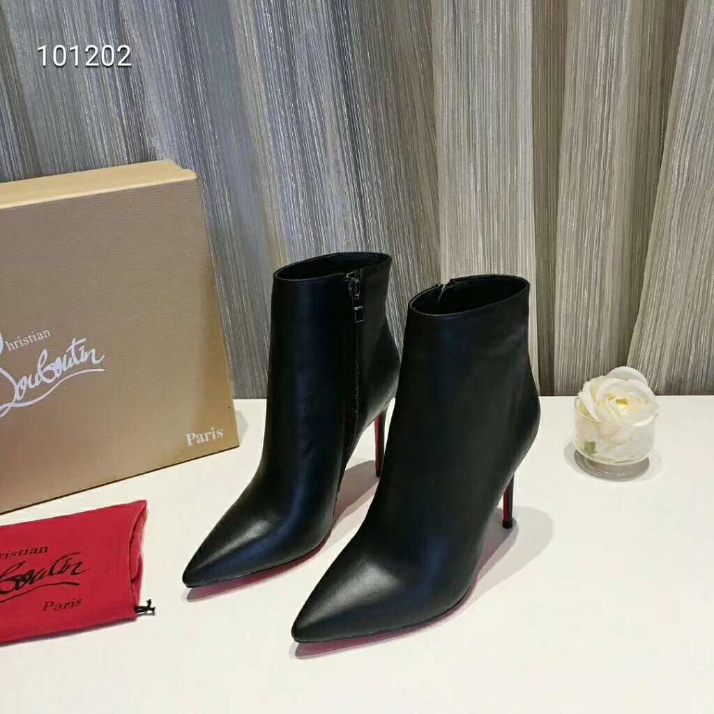 2019 NEW Christian Louboutin Real leather shoes CL101202black