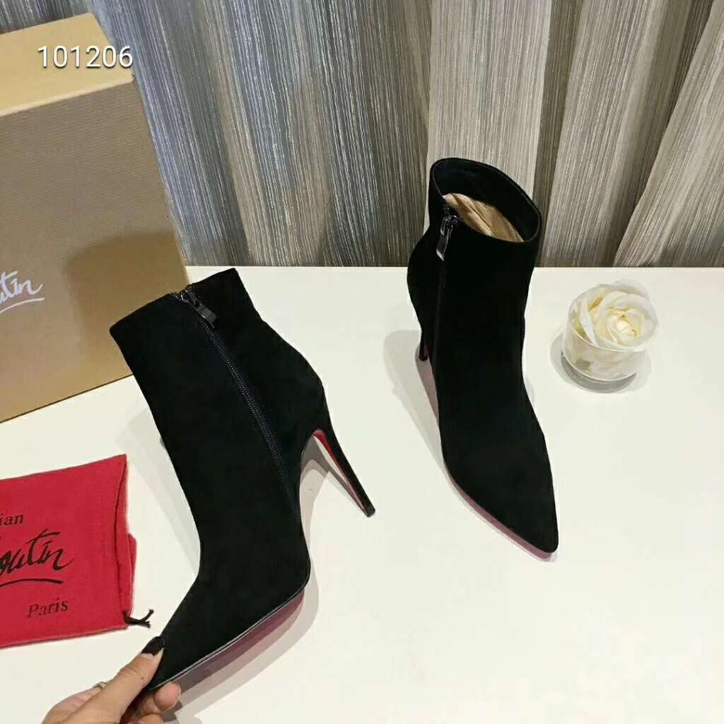 2019 NEW Christian Louboutin Real leather shoes CL101206black