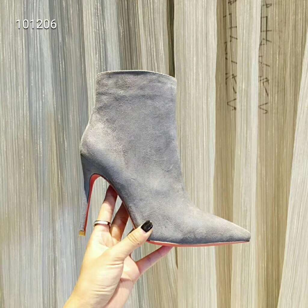 2019 NEW Christian Louboutin Real leather shoes CL101206grey