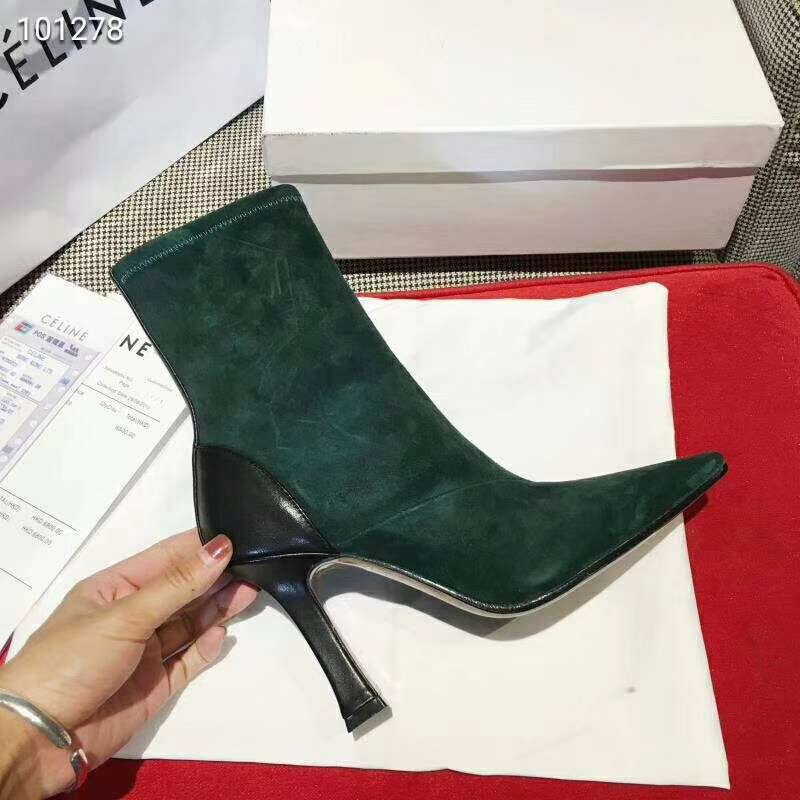 2019 NEW Celine Real leather shoes 101278 green