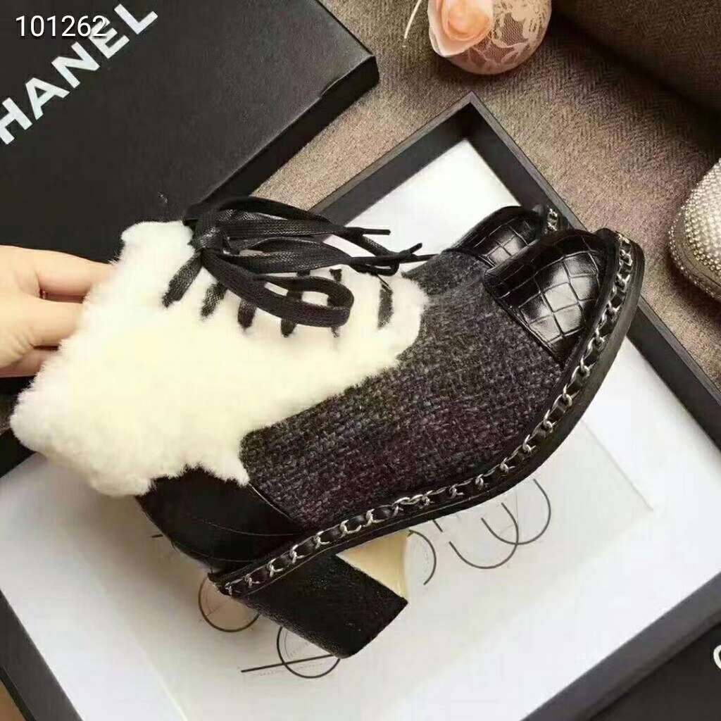 2019 NEW Chanel Real leather shoes Chanel 101262 black