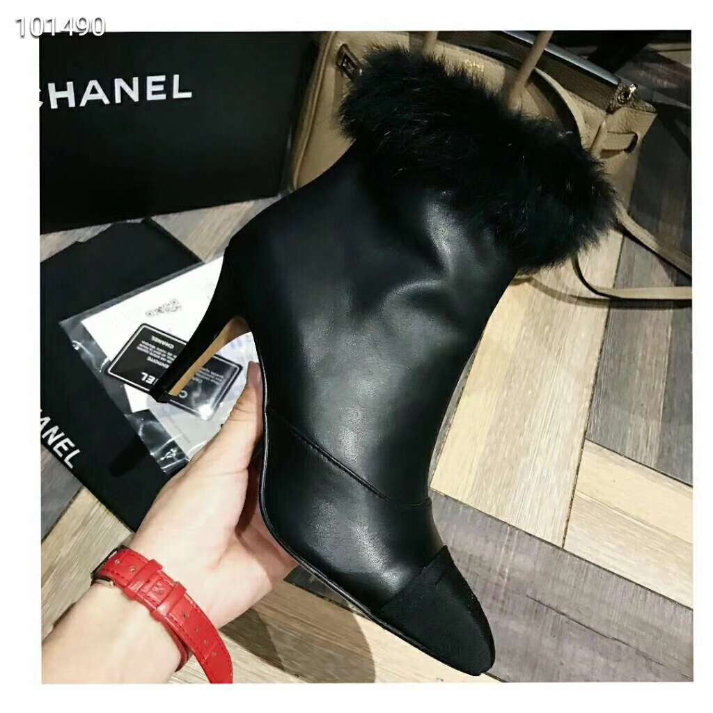 2019 NEW Chanel Real leather shoes Chanel 101490 black