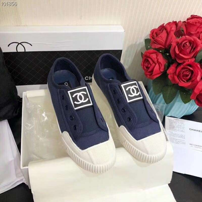 2019 NEW Chanel Real leather shoes Chanel 101856 Blue