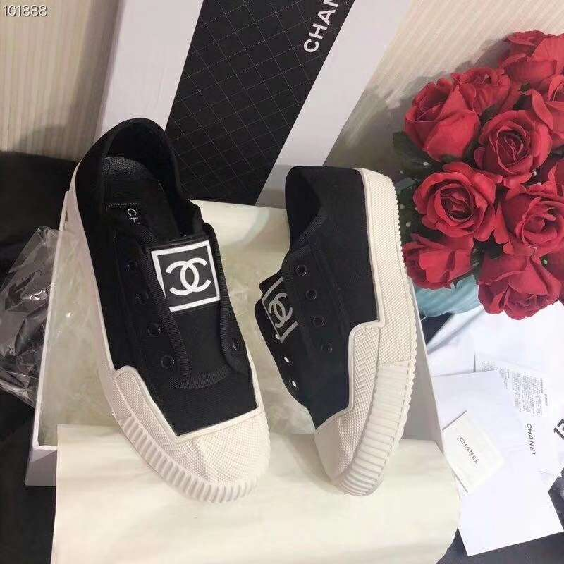 2019 NEW Chanel Real leather shoes Chanel 101858 black