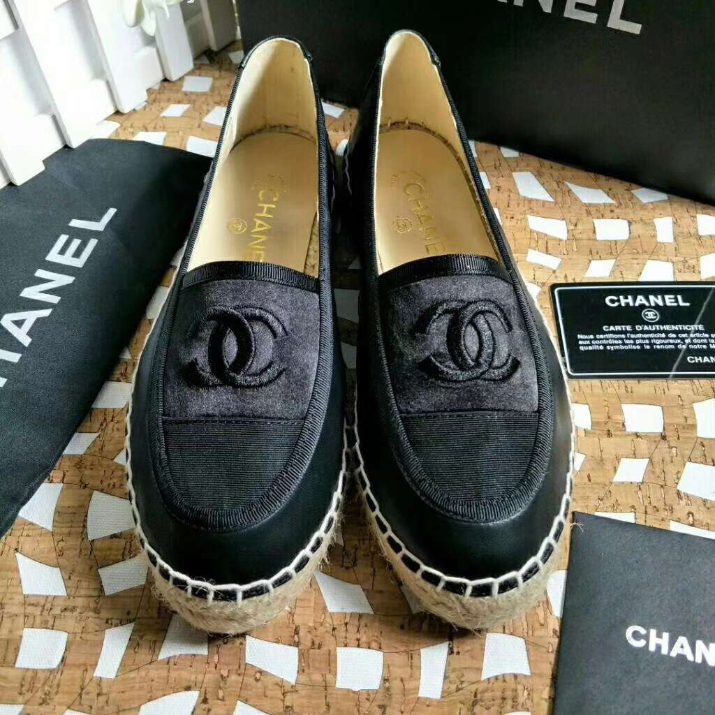 2019 NEW Chanel Real leather shoes Chanel 102601 black