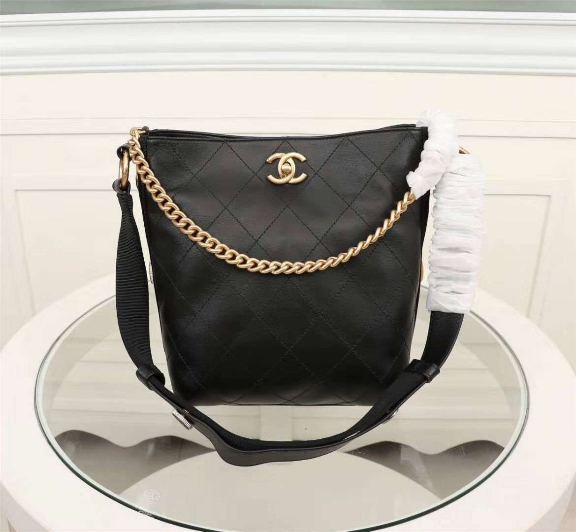 Chanel Hobo Handbag Black A57573