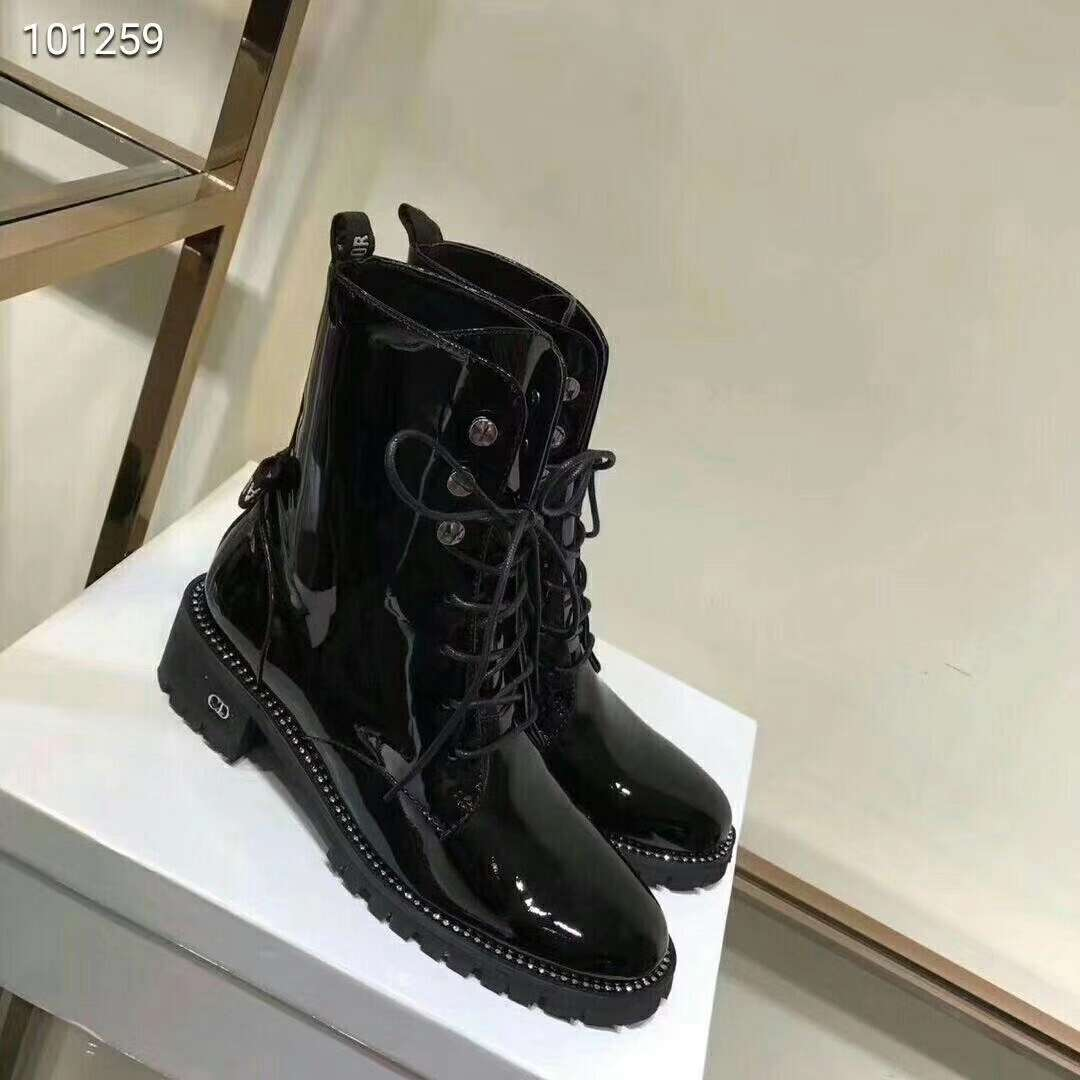 2019 NEW Christian Dior Real leather shoes Dior101259black
