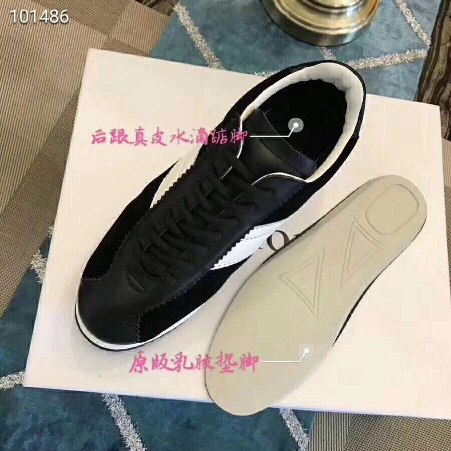 2019 NEW Christian Dior Real leather shoes Dior101486black