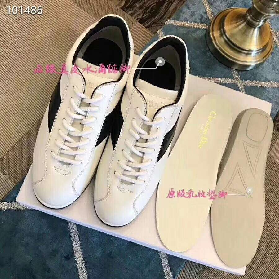 2019 NEW Christian Dior Real leather shoes Dior101486white
