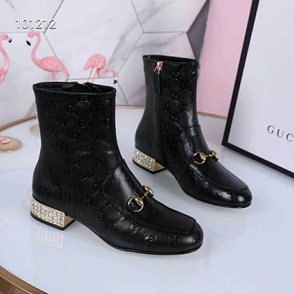2019 NEW Gucci Real leather shoes Gucci101212black