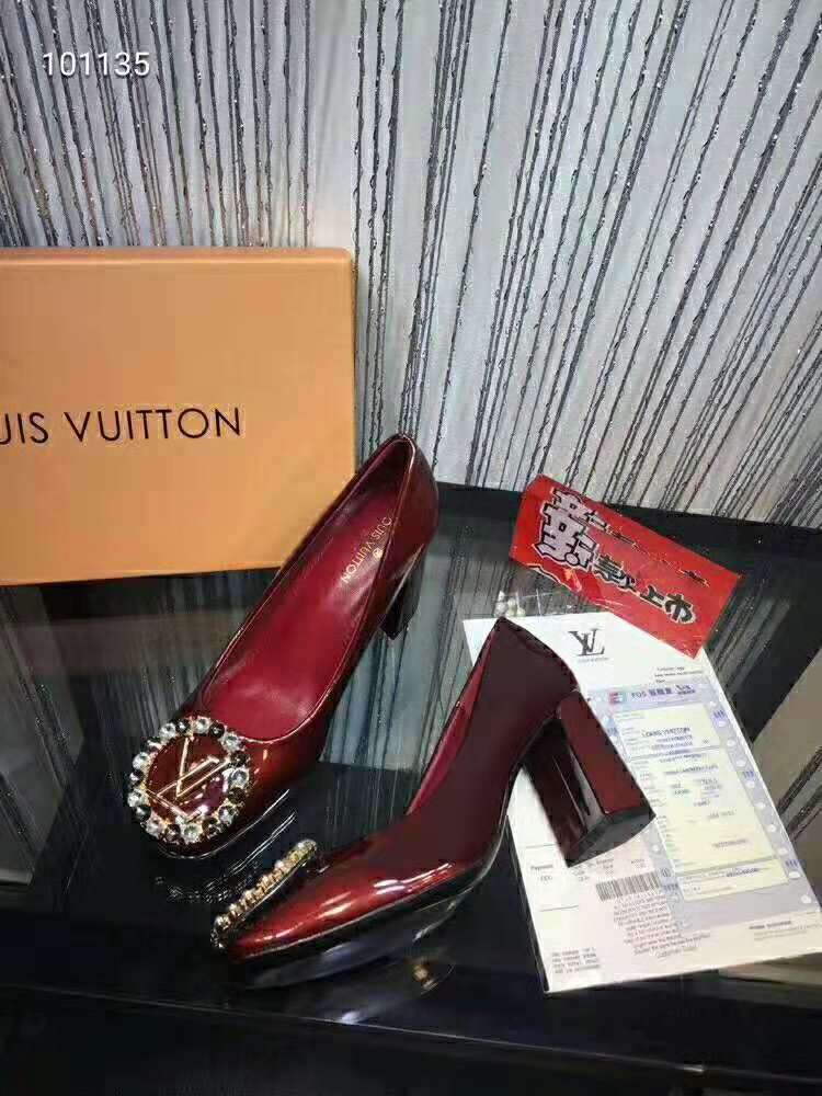 2019 NEW Louis Vuitton Real leather shoes LV101135RED