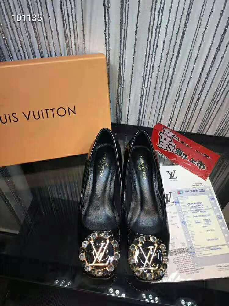 2019 NEW Louis Vuitton Real leather shoes LV101135black