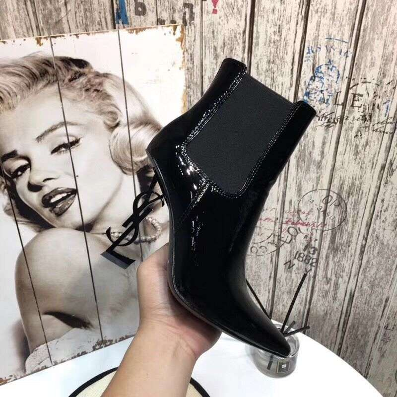 2019 NEW YSL Patent leather Ankle Boots 102931