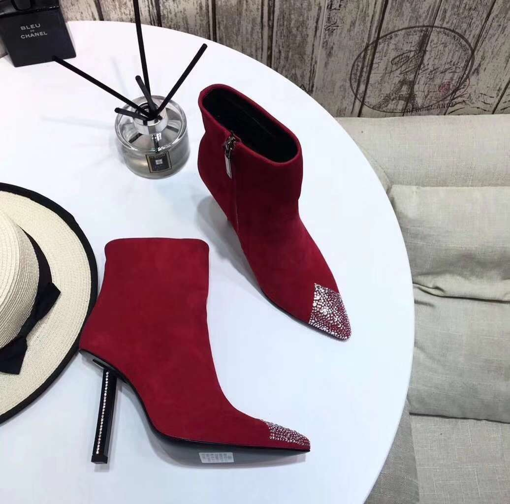 2019 NEW YSL Real leather shoes YSL1026red