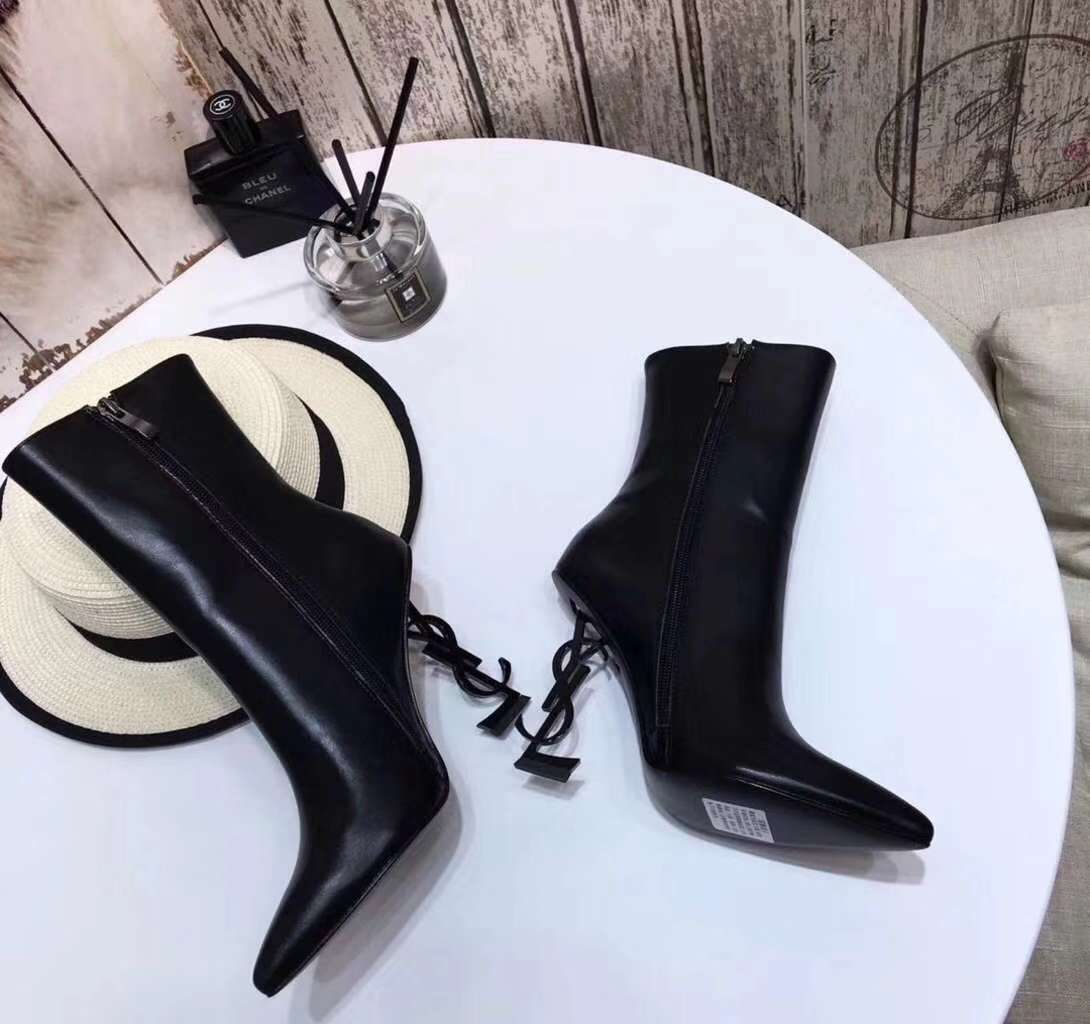2019 NEW YSL Real leather shoes YSL1027black