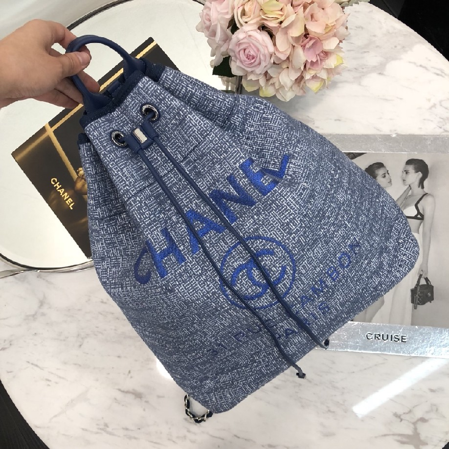 best quality original Chanel canvas 93787 blue