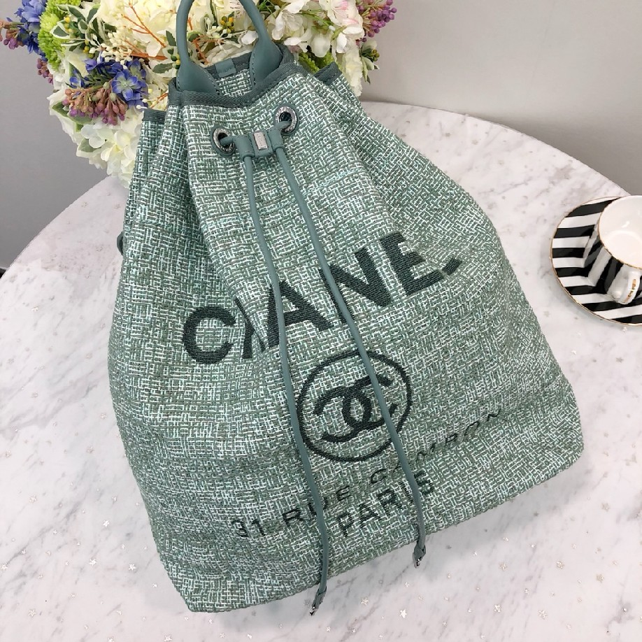 best quality original Chanel canvas 93787 green