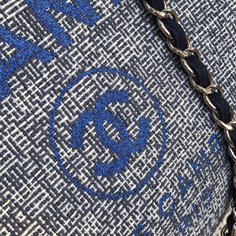best quality original Chanel canvas tote shopping bags 30492 blue