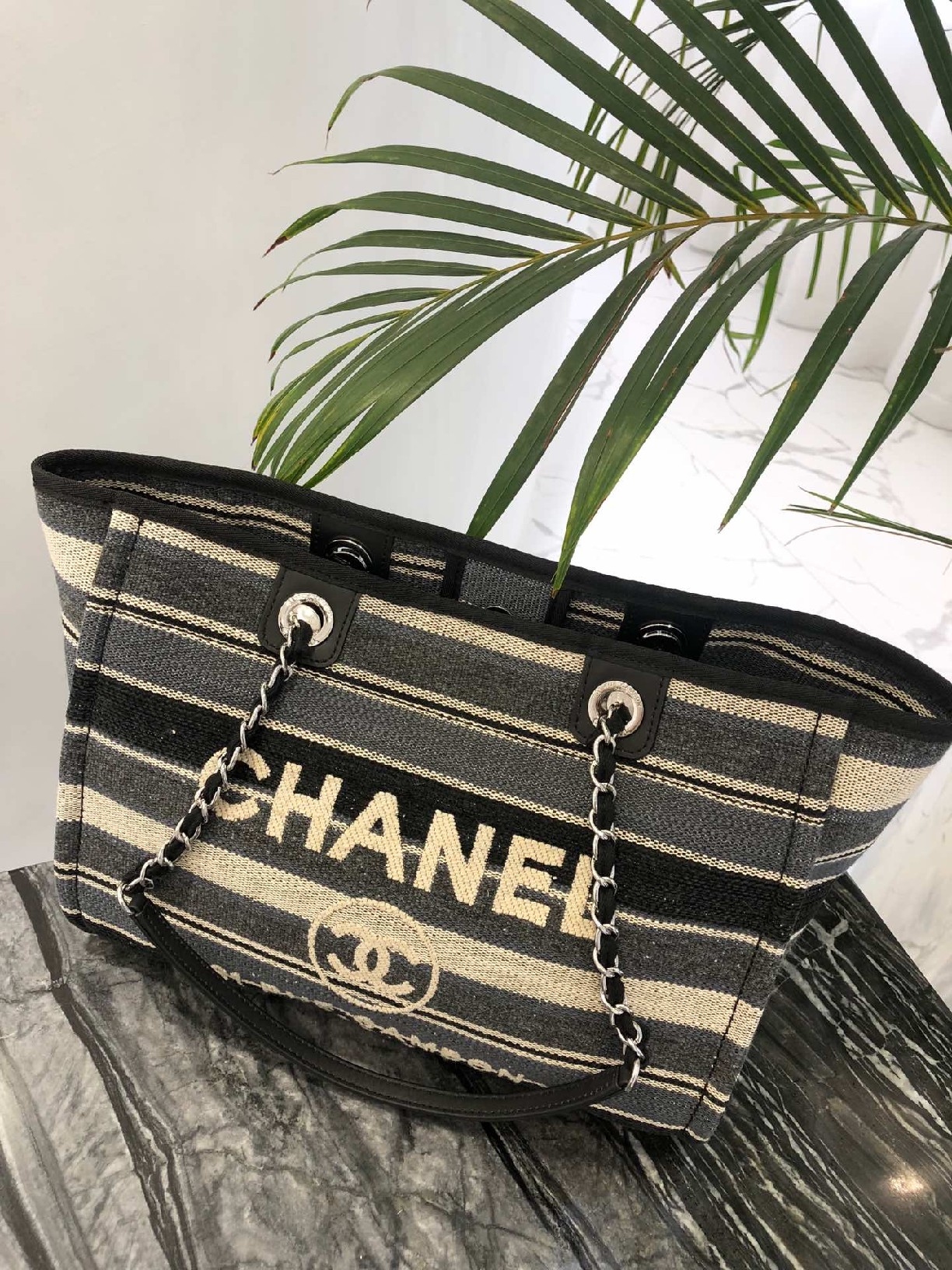 best quality original Chanel canvas tote shopping bags 30492