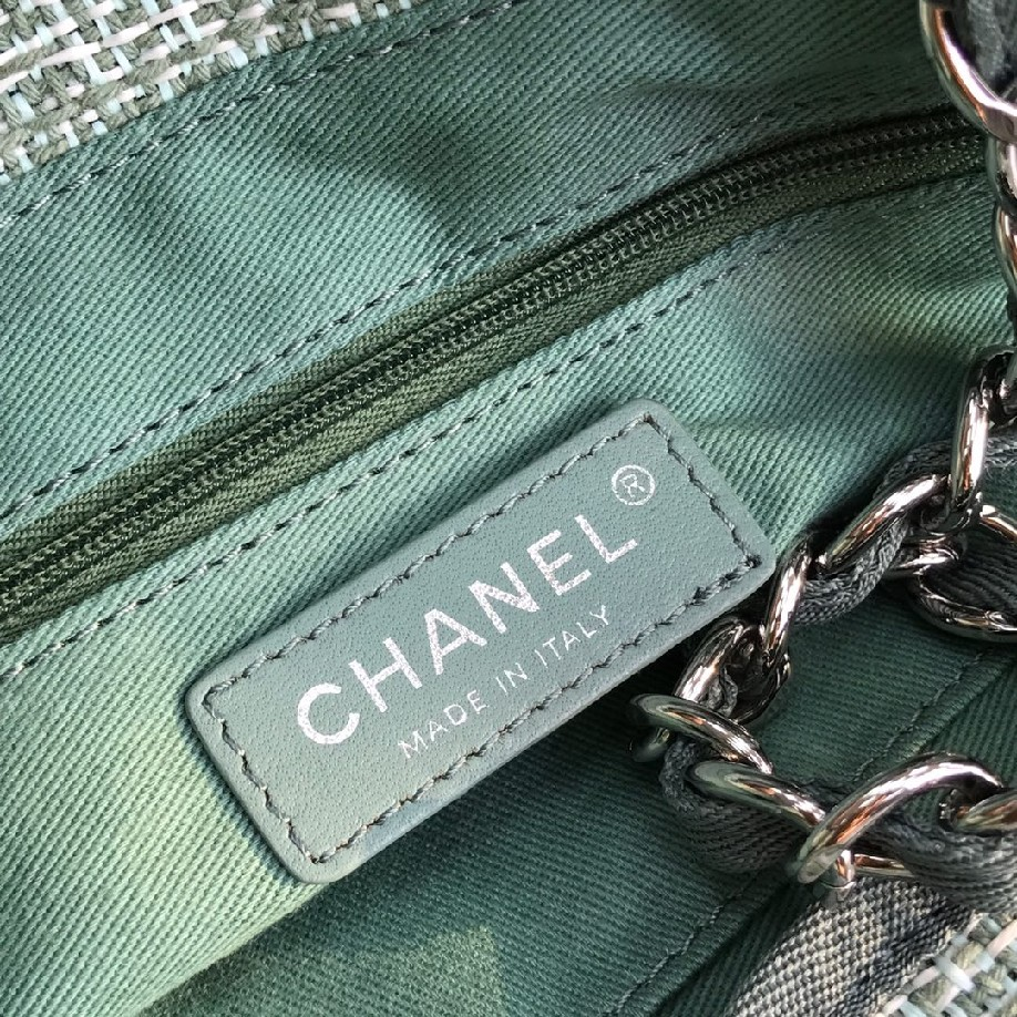 best quality original Chanel canvas tote shopping bags 30492 green