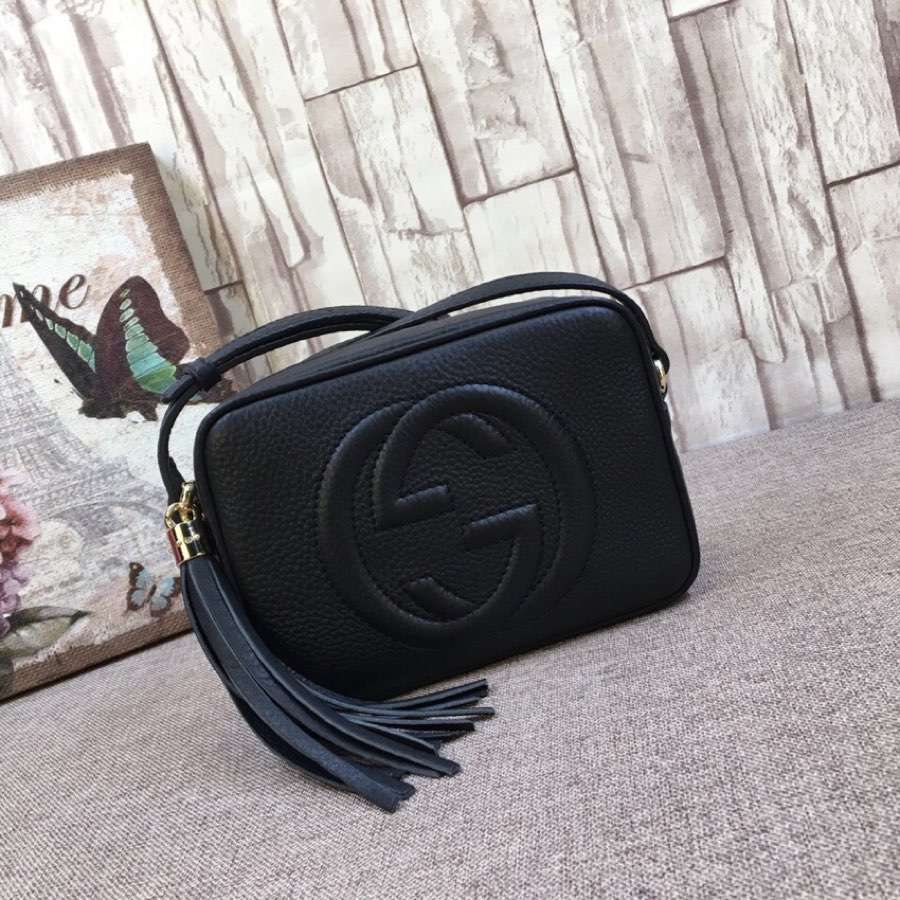 Gucci Soho small leather disco bag 308364 A7M0G 1000 black