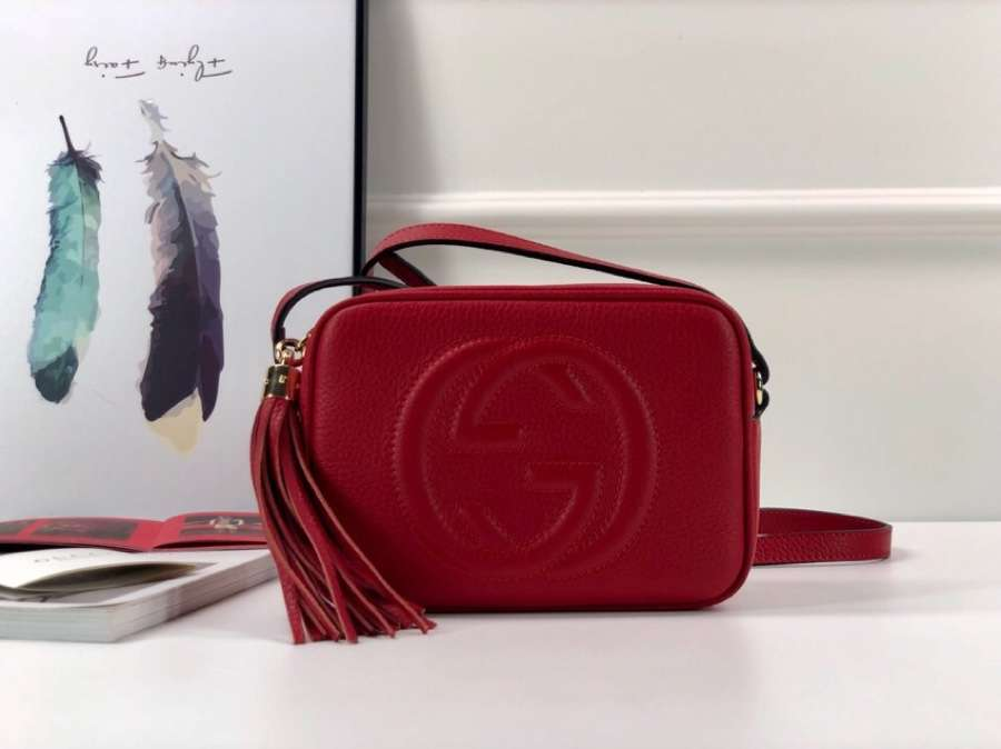 Gucci Soho small leather disco bag 308364 A7M0G 6523 red