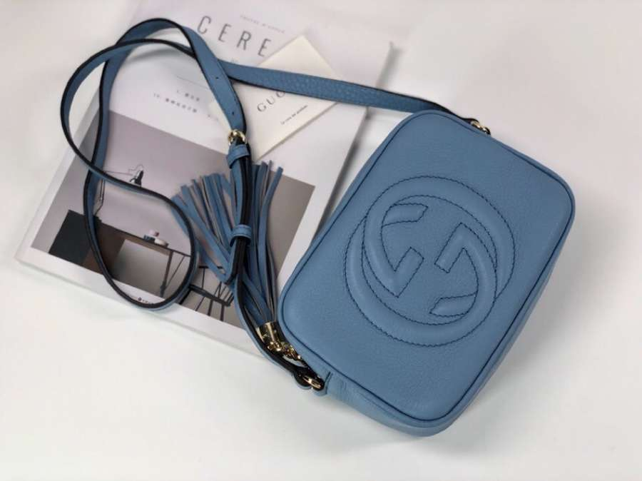 Gucci Soho small leather disco bag 308364 blue