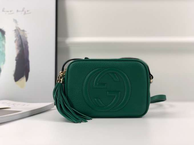 Gucci Soho small leather disco bag 308364 green