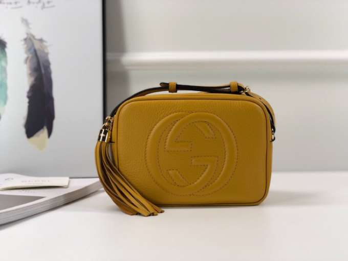 Gucci Soho small leather disco bag 308364 yellow