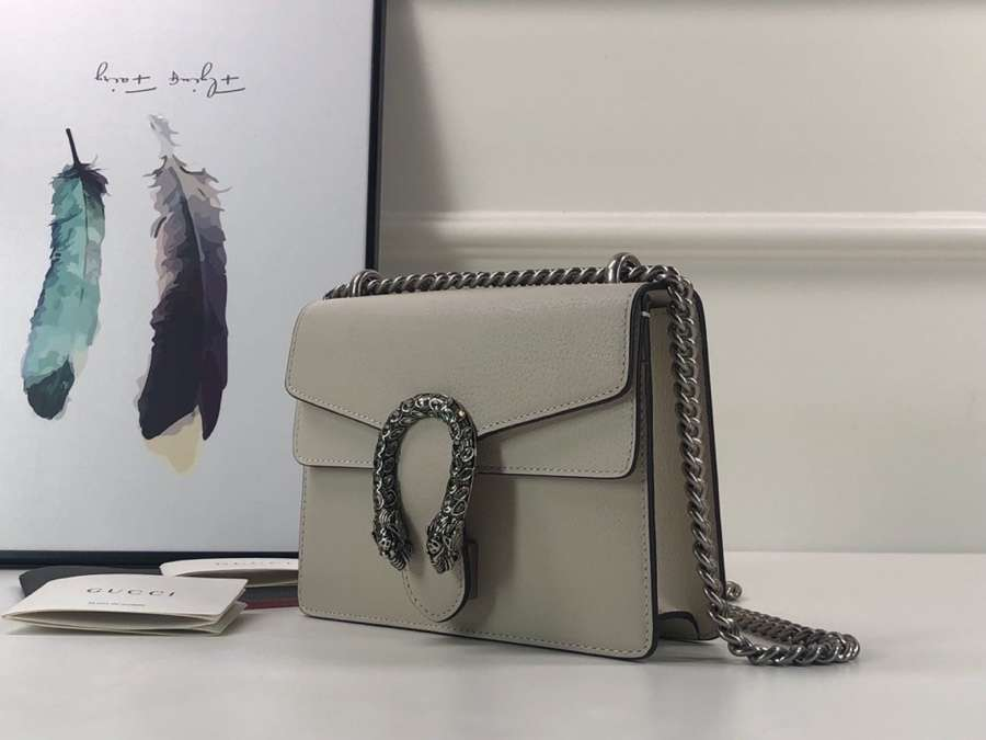 Gucci Dionysus mini leather bag 421970 0K7JN 9680 white