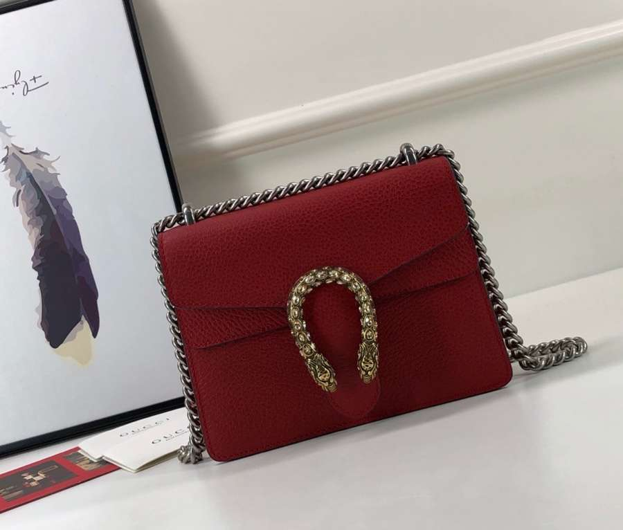 Gucci Dionysus mini leather bag 421970 red