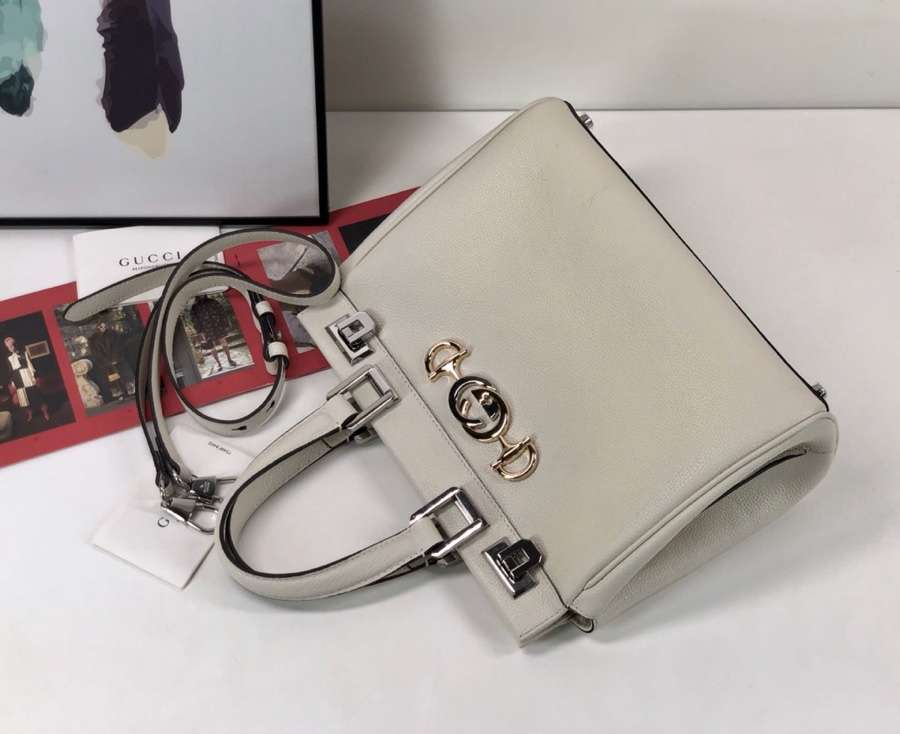Gucci Zumi grainy leather small top handle bag 569712 1B90X 9022