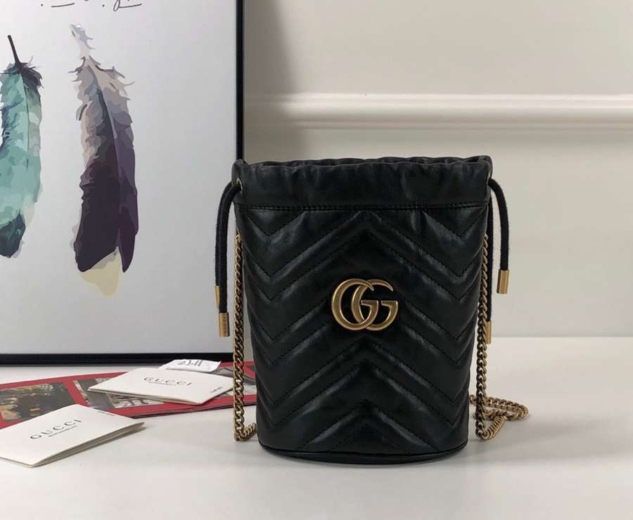 Gucci GG Marmont mini bucket bag 575163 DTDRT 1000