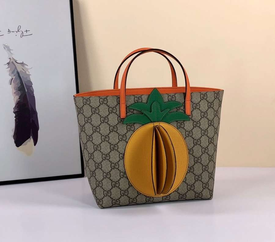Gucci Children's GG tote with pineapple 580840 KWZCN 9754
