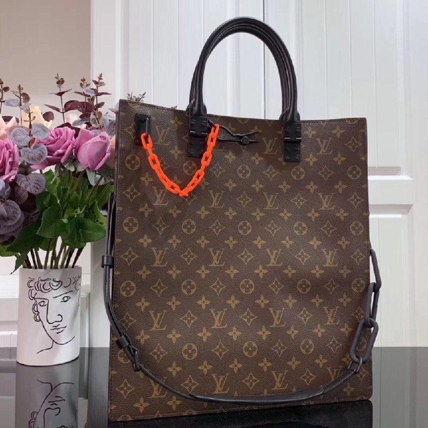 Louis Vuitton Monogram Canvas SAC PLAT M44475