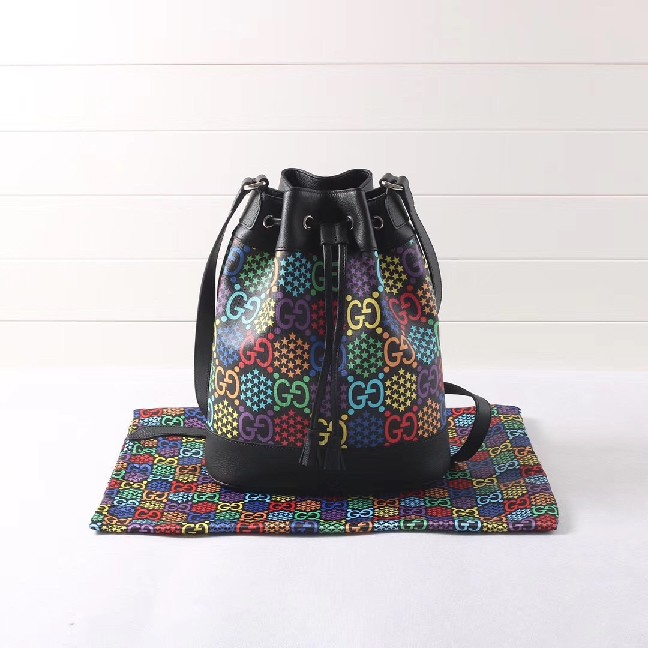 Gucci GG Psychedelic bucket bag Style 598149 HPUBN 1058??