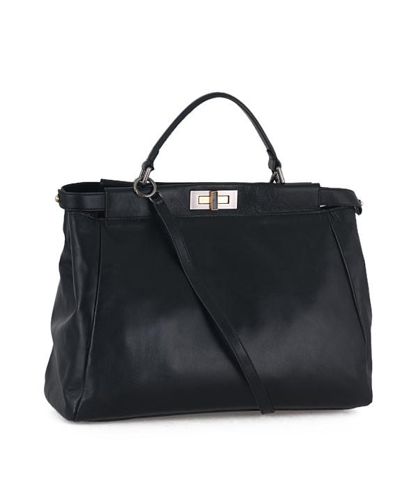 Fendi 2291 Peek-A-Boo Leather Tote Bag