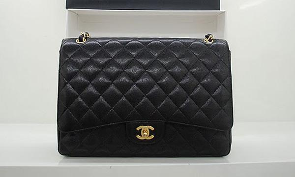 Chanel 36070 Designer Handbags Black Original Caviar Leather With Gold Hardware
