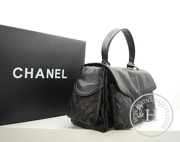 Chanel 36075 Designer Handbag Black Original Caviar Leather