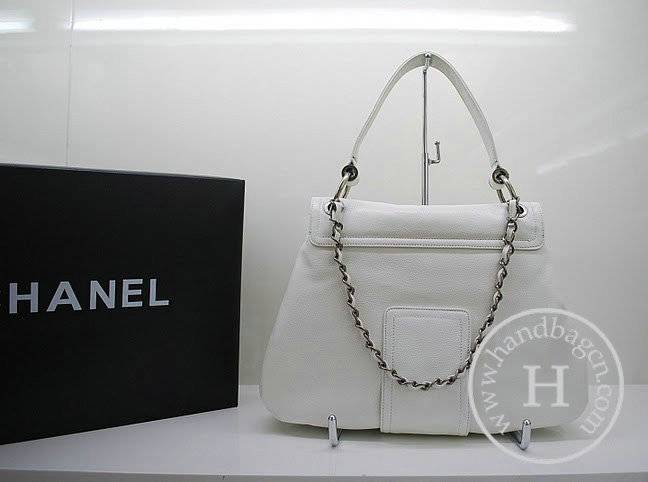 Chanel 36081 Designer Handbag White Original Caviar Leather